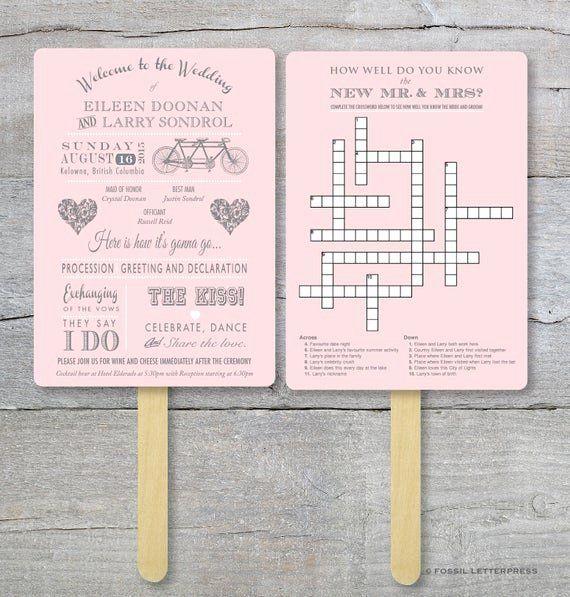 Kreuzworträtsel auf Fächer oder Servietten als Gästebeschäftigung ist nicht nur für die ältere Generation ein Spaß!